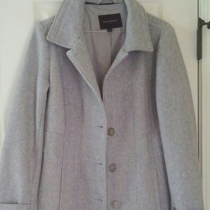 Banana Republic Women's wool blend coat small gray